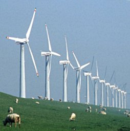 Windmills at the coastline